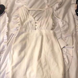 White Greek style dress